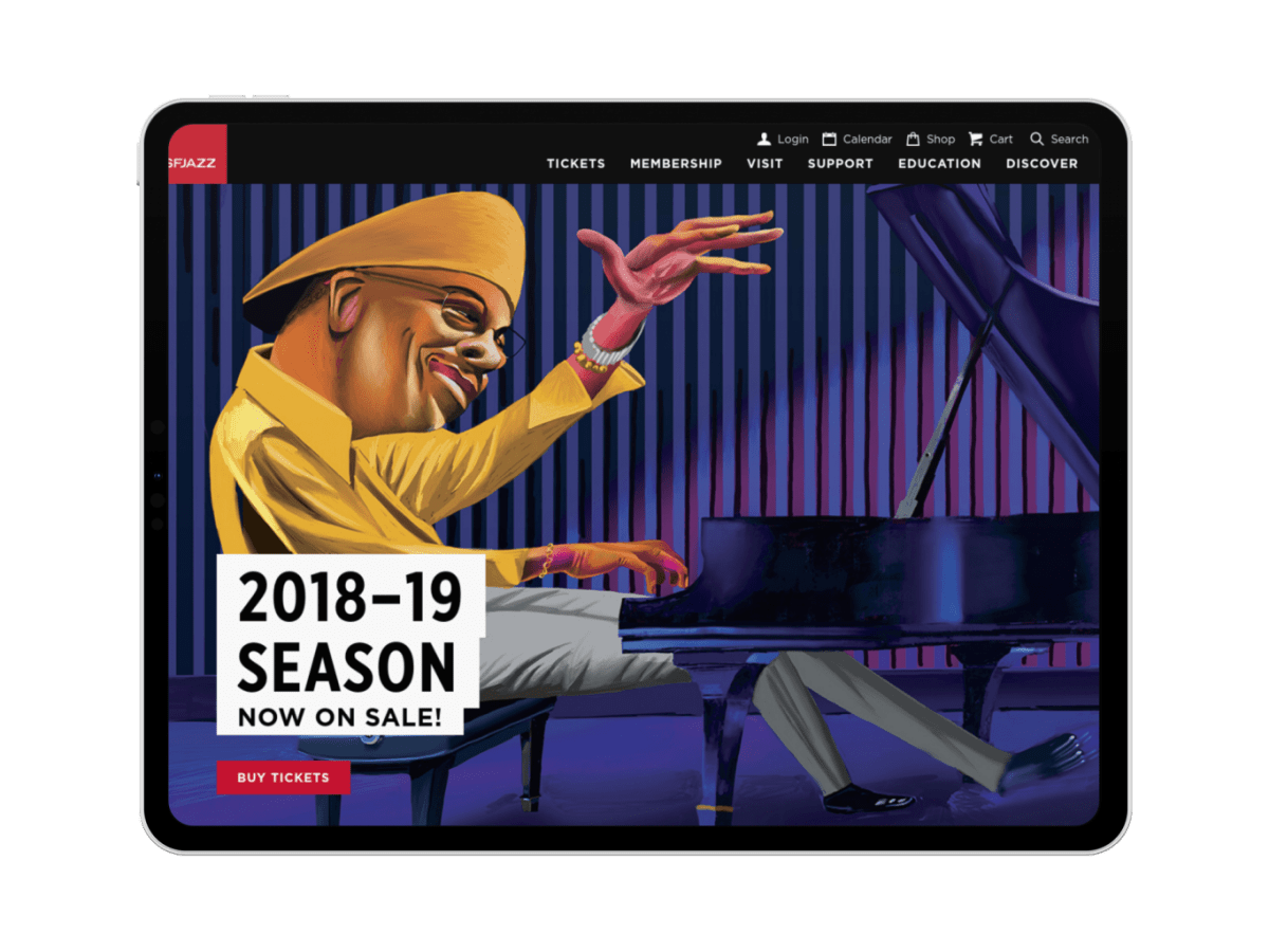 Modern tablet design for SFJAZZ by Adage Technologies